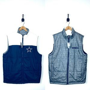 NWT Mens NFL Dallas Cowboys Reversible Vest